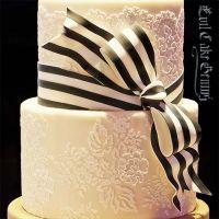 Evil Cake Genius: Chantilly Lace Leaf professional cake stencil #4