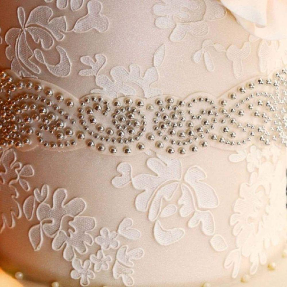 Evil Cake Genius: Alencon Lace Traditional professional cake stencil #3