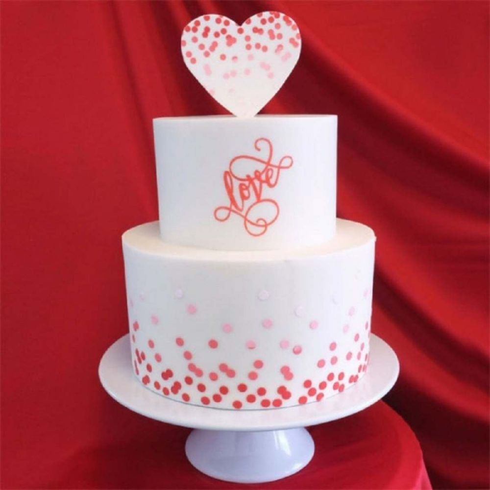 Evil Cake Genius: Dissipating Small Dots professional cake stencil #6