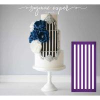 Evil Cake Genius: Horizontal Stripe Half Inch - professional mesh cake stencil #5