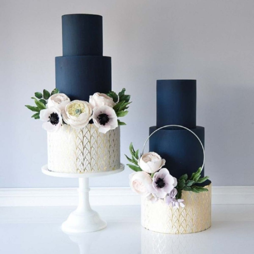 Evil Cake Genius: Art Deco Fountain Double Barrel professional cake stencil