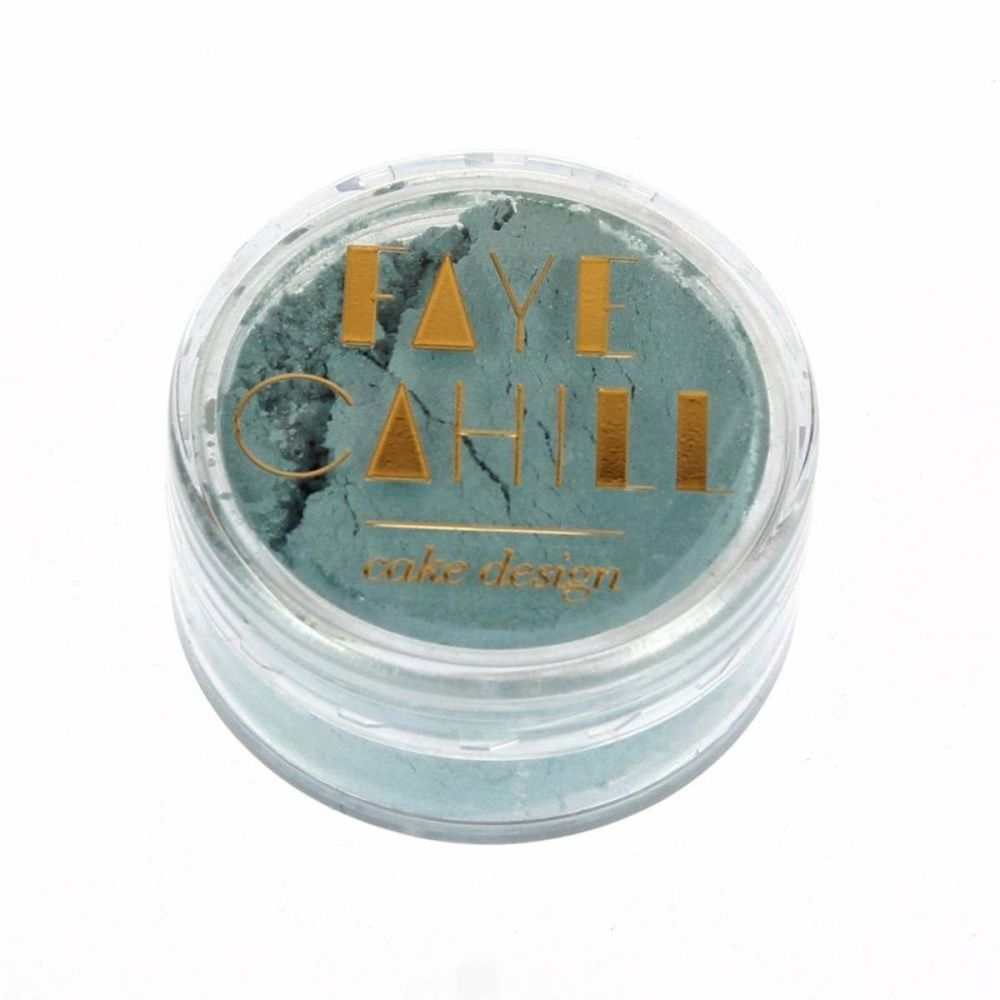 Faye Cahill: MISTY BLUE 10ml luxury edible lustre dust icing colour