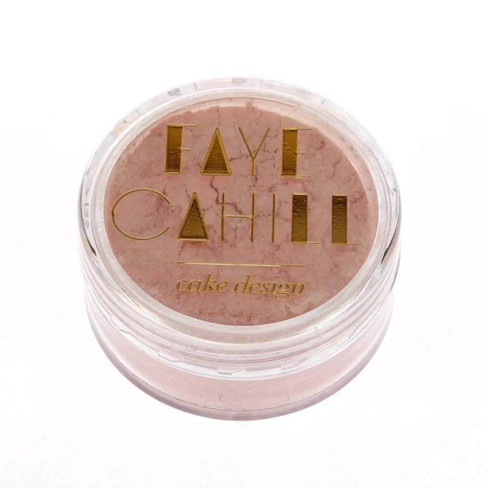 Faye Cahill: POWDER PINK 10ml luxury edible lustre dust icing colour