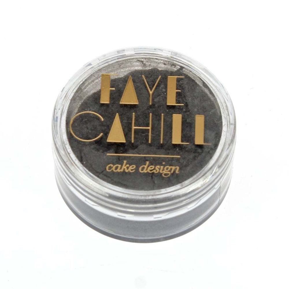 Faye Cahill: PLATINUM SILVER 10ml luxury edible lustre dust icing colour
