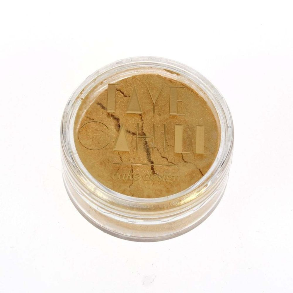 Faye Cahill: SHIMMER GOLD 10ml luxury edible lustre dust icing colour