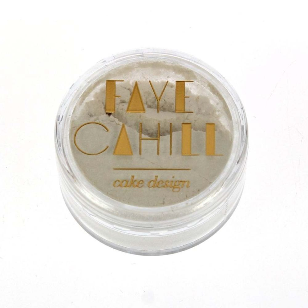 Faye Cahill: PEARL WHITE 10ml luxury edible lustre dust icing colour
