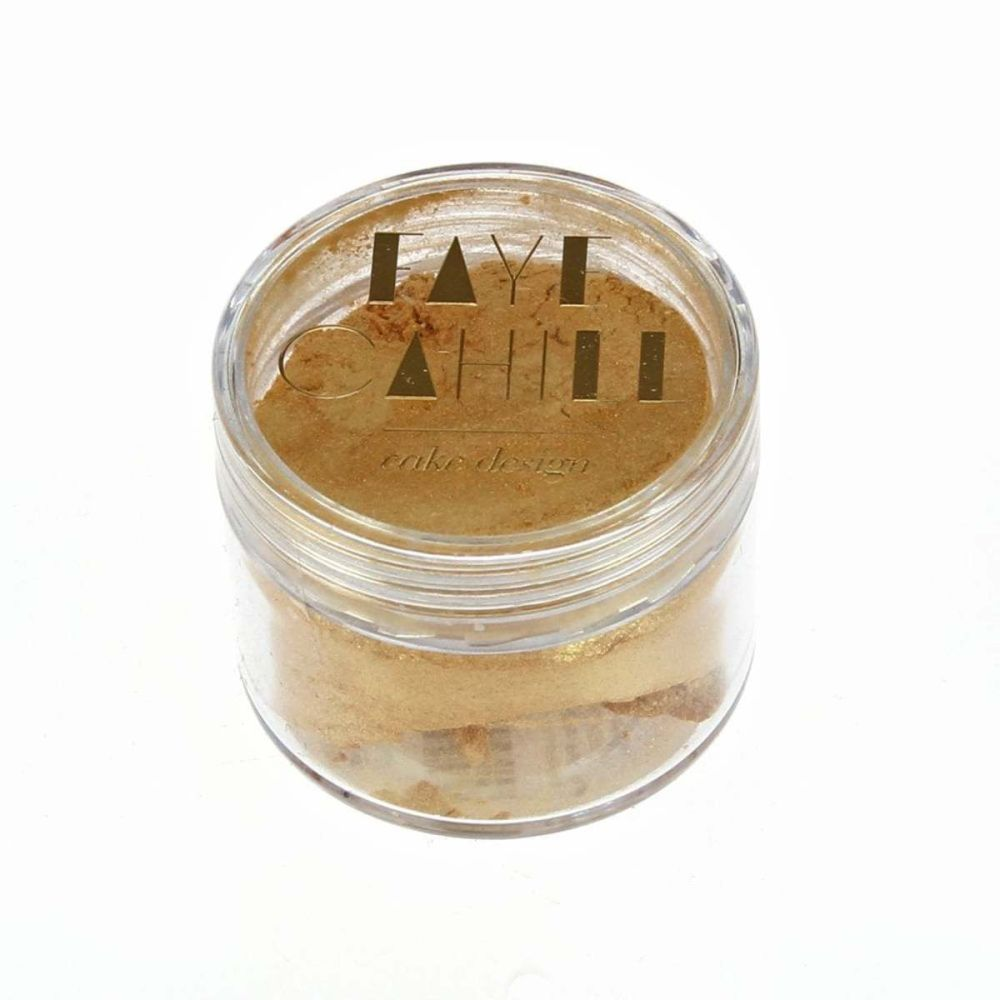 Faye Cahill: SHIMMER GOLD 20ml luxury edible lustre dust icing colour