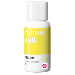 Colour Mill YELLOW oil based concentrated icing colouring 20ml