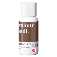 Colour Mill CHOCOLATE BROWN oil based concentrated icing colouring 20ml