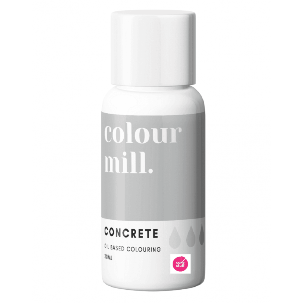 Colour Mill CONCRETE GREY oil based concentrated icing colouring 20ml