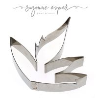 Suzanne Esper PEONY CALYX professional stainless steel icing cutter set