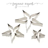 Suzanne Esper 3 pc ROSE CALYX professional stainless steel icing cutter set