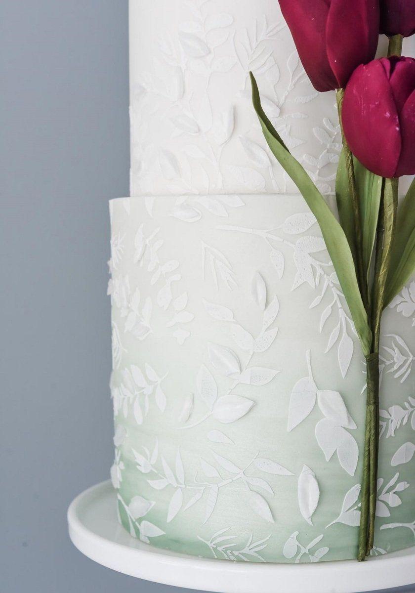 Suzanne Esper MEADOW BREEZE professional cake icing stencil