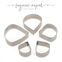 Suzanne Esper 5 pc RANUNCULUS professional stainless steel icing cutter set
