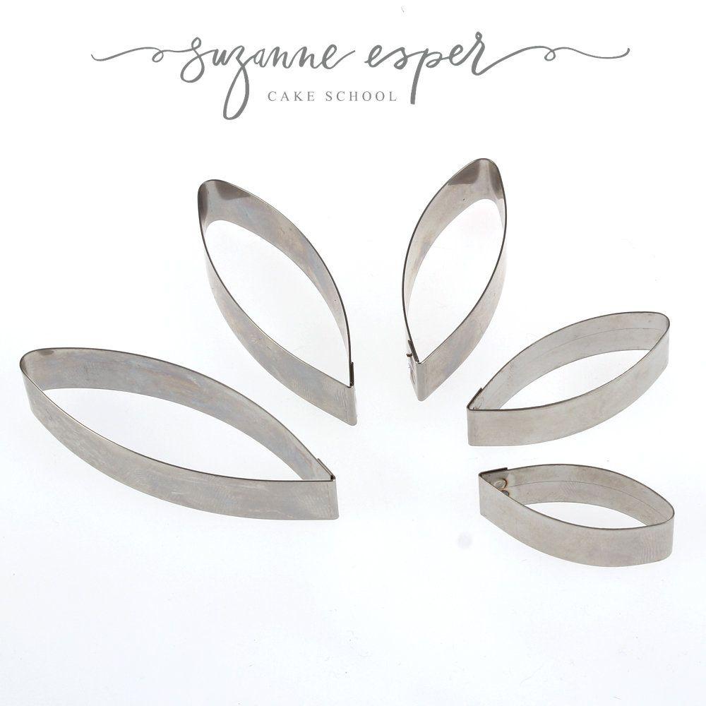 Suzanne Esper SUNFLOWER / DAHLIA / RUSCUS 5 pc professional stainless steel