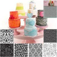 Autumn Carpenter Floral icing texture sheet impression mat 6 pc set