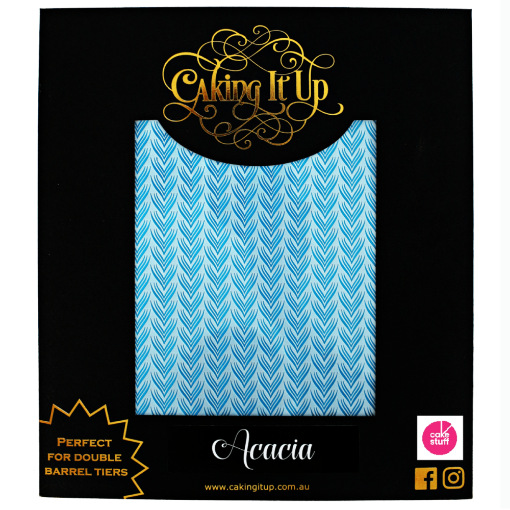 Caking It Up ACACIA large cake icing stencil by Karen Reeves