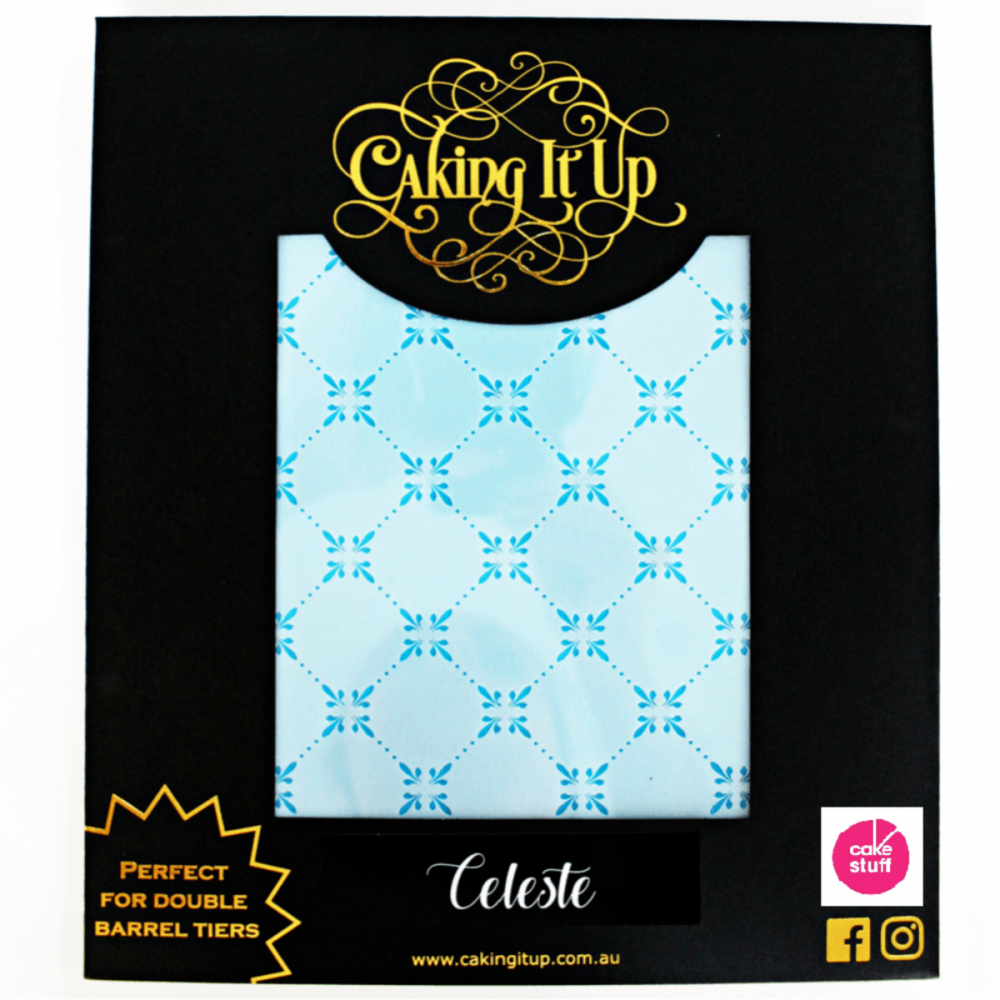 Caking It Up CELESTE large cake icing stencil by Karen Reeves
