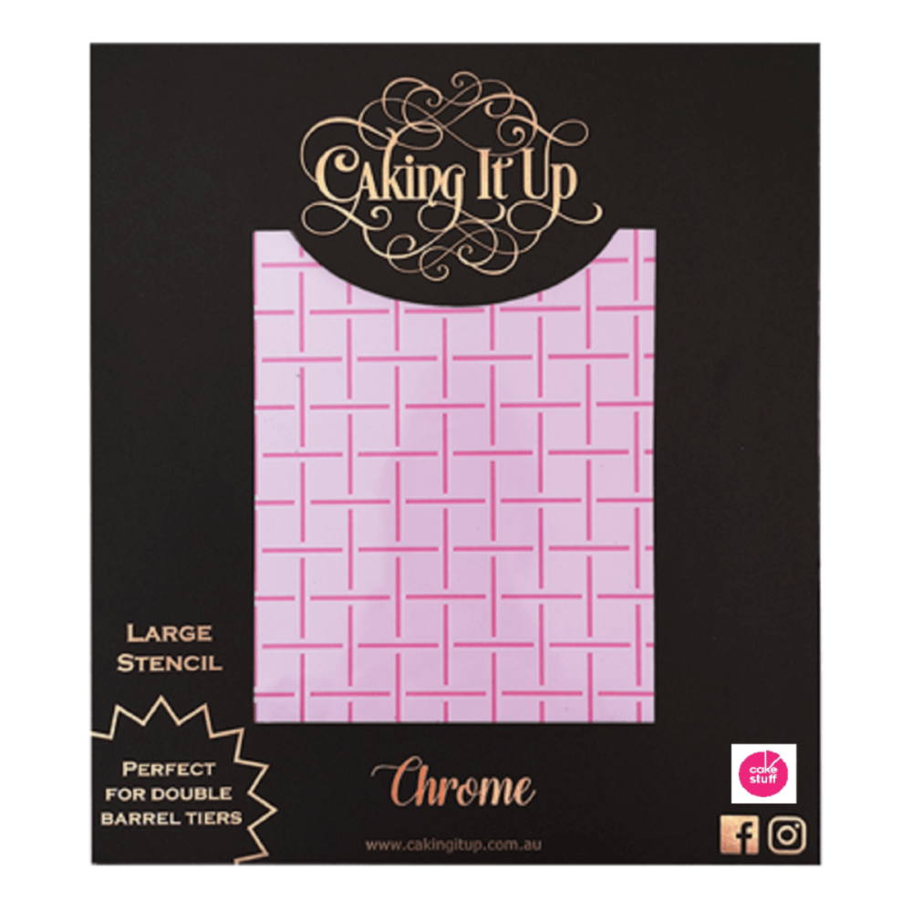 Caking It Up CHROME large cake icing stencil by Karen Reeves