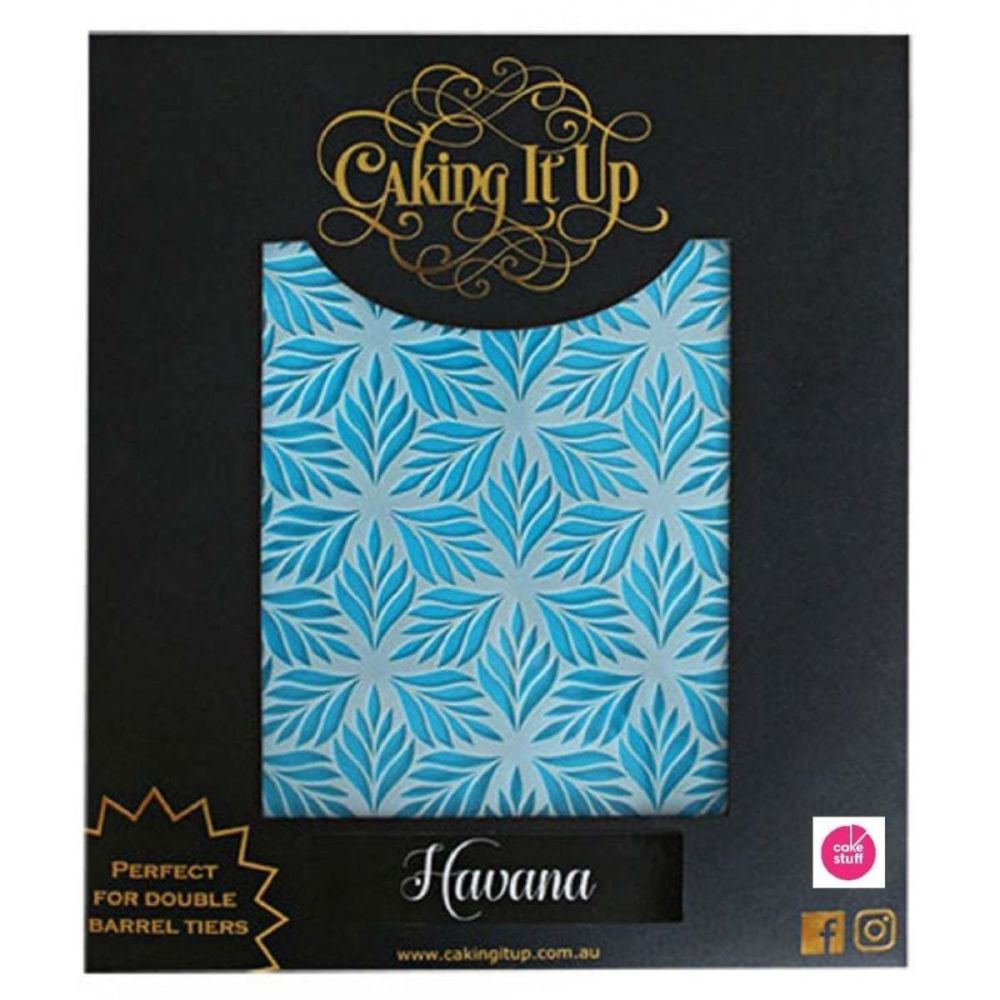 Caking It Up HAVANA large cake icing stencil by Karen Reeves