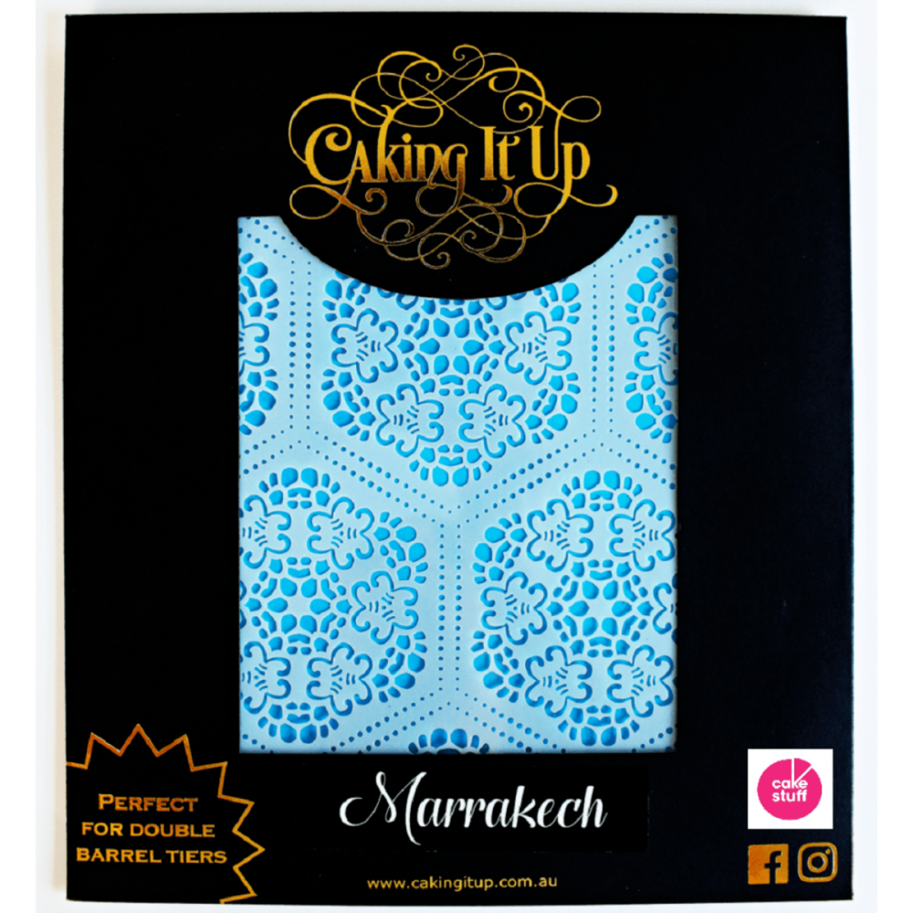 Caking It Up MARRAKECH large cake icing stencil by Karen Reeves