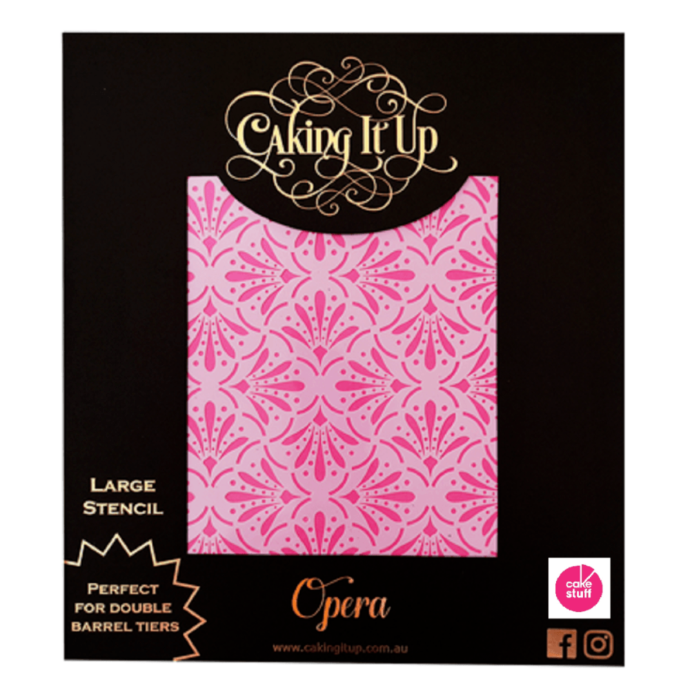 Caking It Up OPERA large cake icing stencil by Karen Reeves