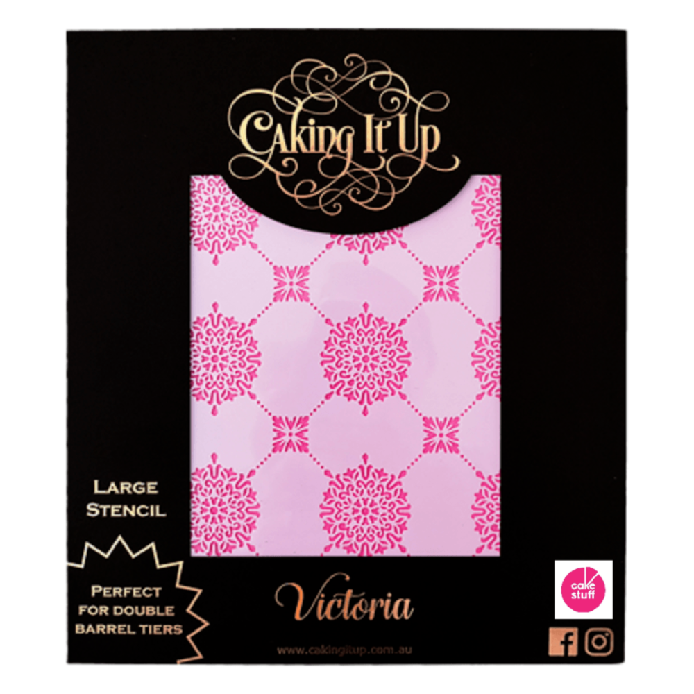 Caking It Up VICTORIA large cake icing stencil by Karen Reeves