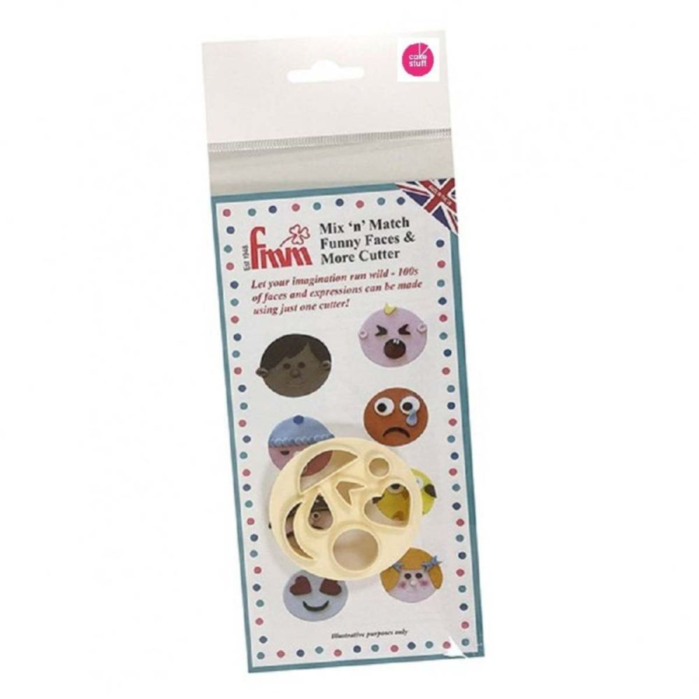FMM MIX 'N' MATCH FUNNY FACES & MORE icing & gumpaste cutter set
