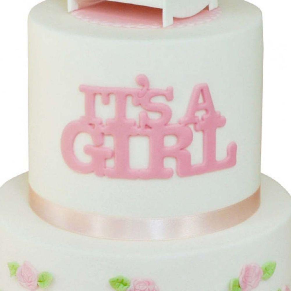 FMM IT'S A GIRL - Curved Words icing cutter set