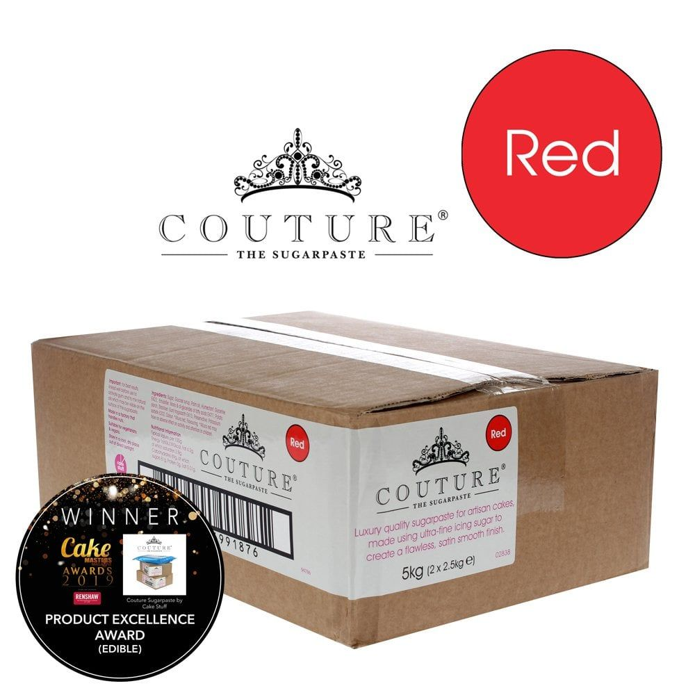 Couture 5kg / 11lb RED luxury sugarpaste ready to roll fondant icing