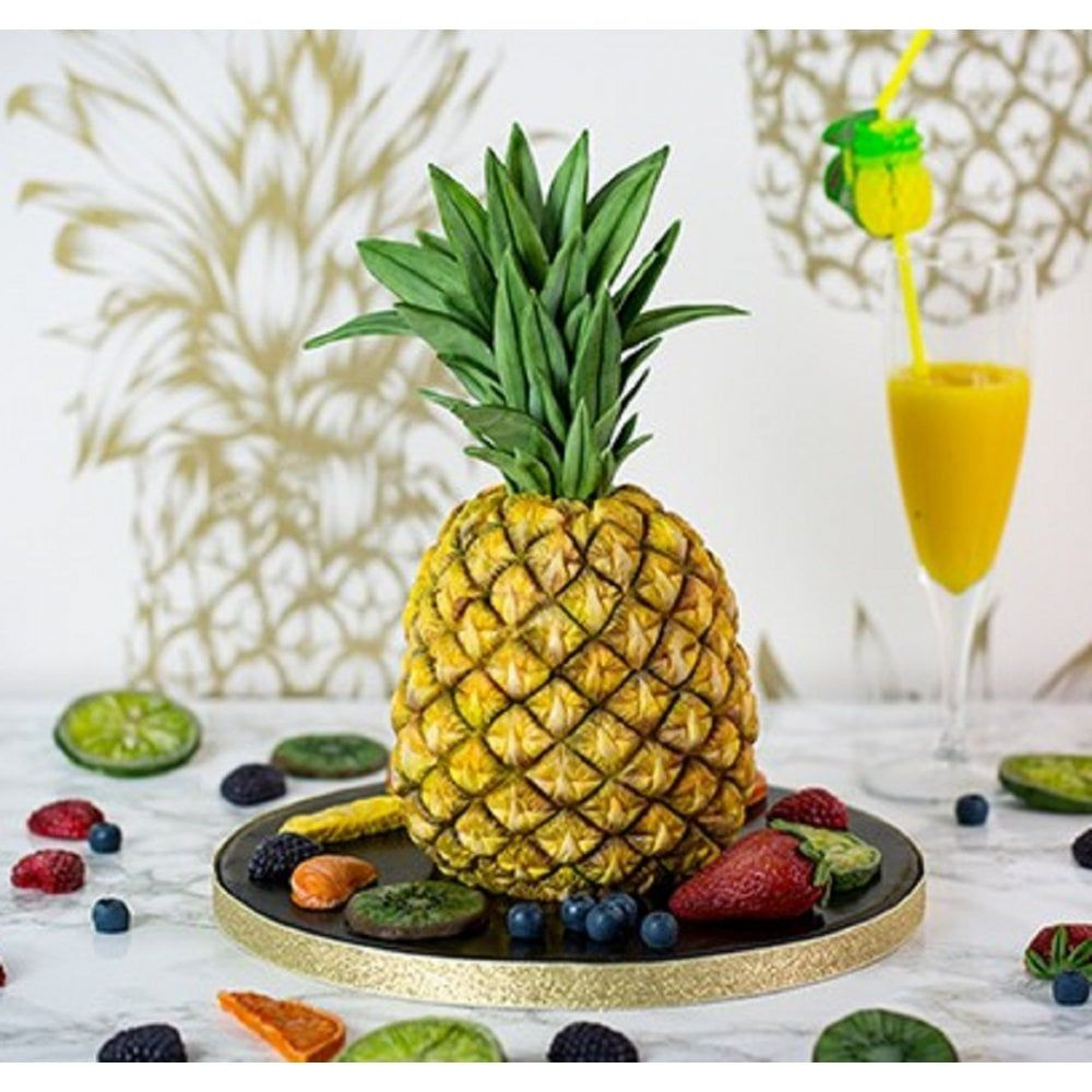 Karen Davies Tropical Pineapple silicone icing mould set