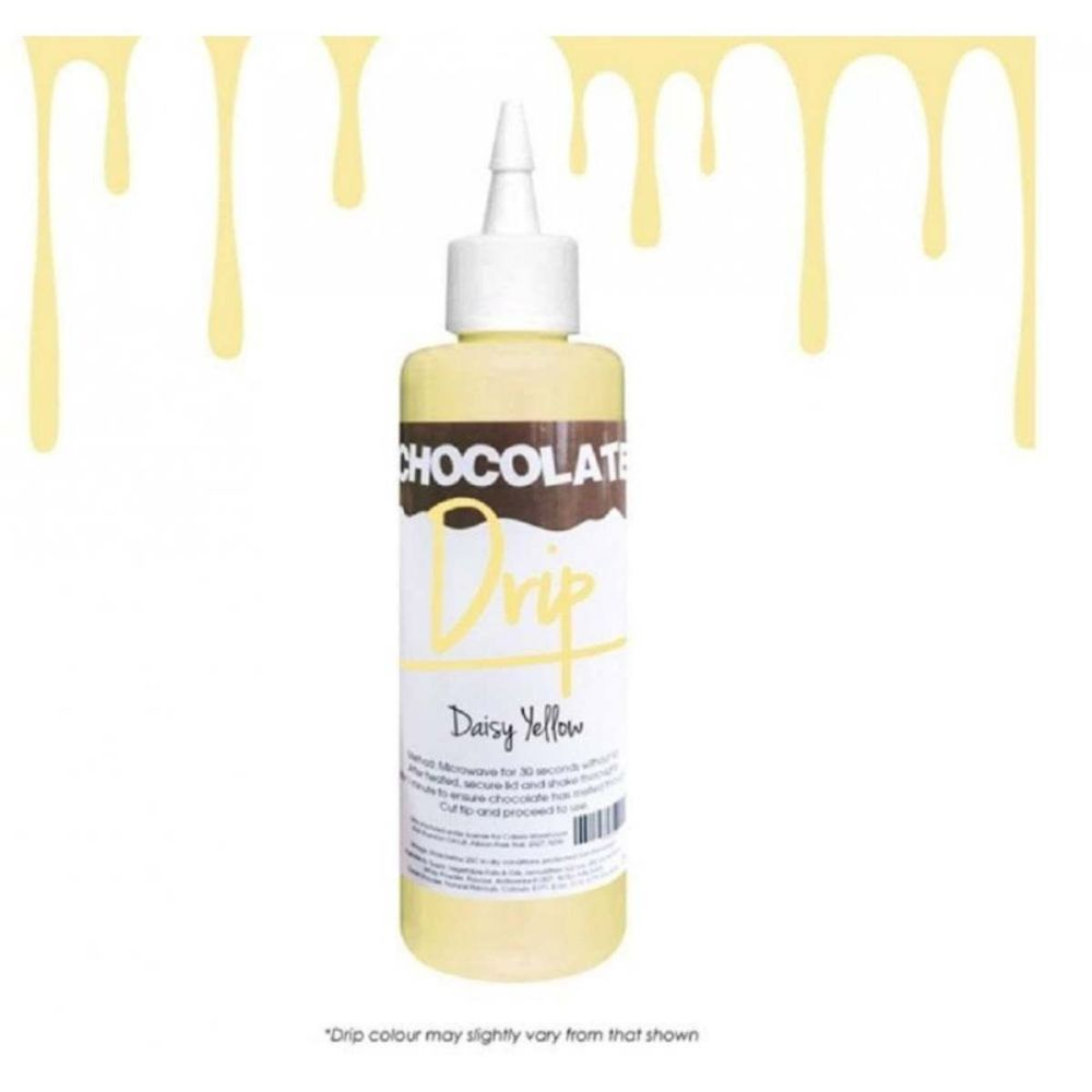 Chocolate Drip DAISY YELLOW professional choc icing for drip cakes - 250g