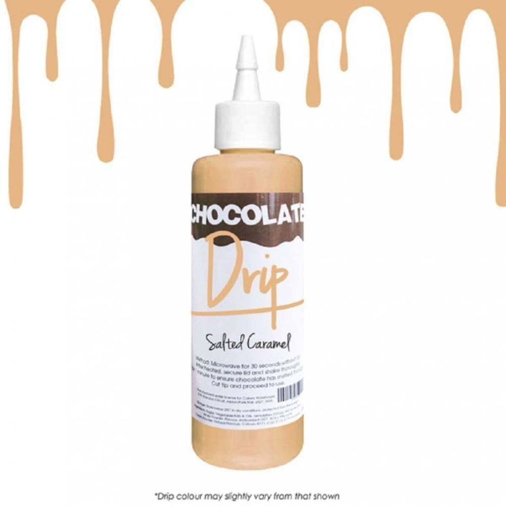 Chocolate Drip SALTED CARAMEL professional choc icing for drip cakes - 250g