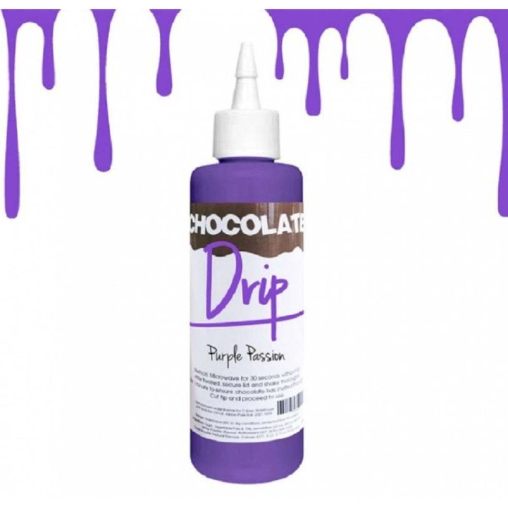 Chocolate Drip PURPLE PASSION professional choc icing for drip cakes - 250g