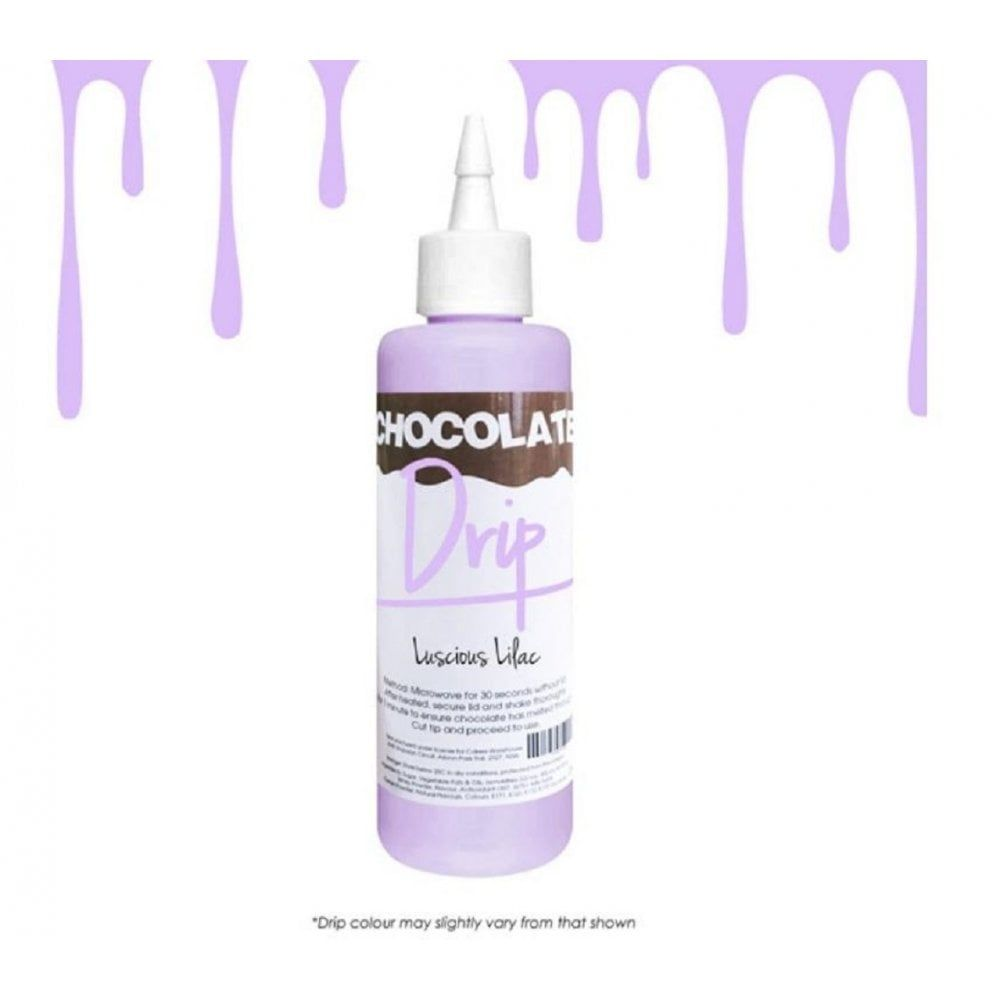 Chocolate Drip LUSCIOUS LILAC professional choc icing for drip cakes - 250g