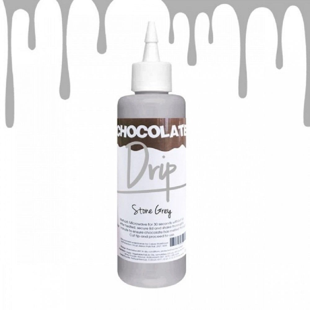 Chocolate Drip STONE GREY professional choc icing for drip cakes - 250g