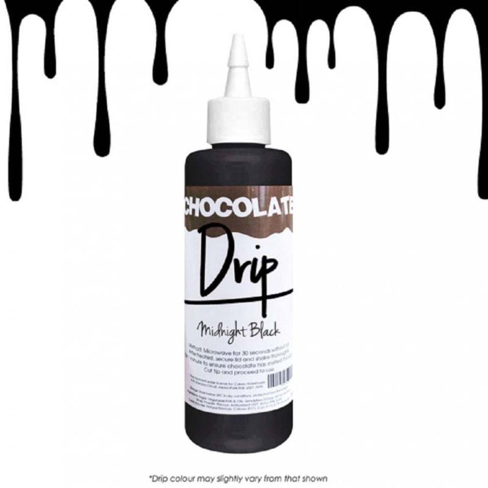 Chocolate Drip MIDNIGHT BLACK professional choc icing for drip cakes - 250g