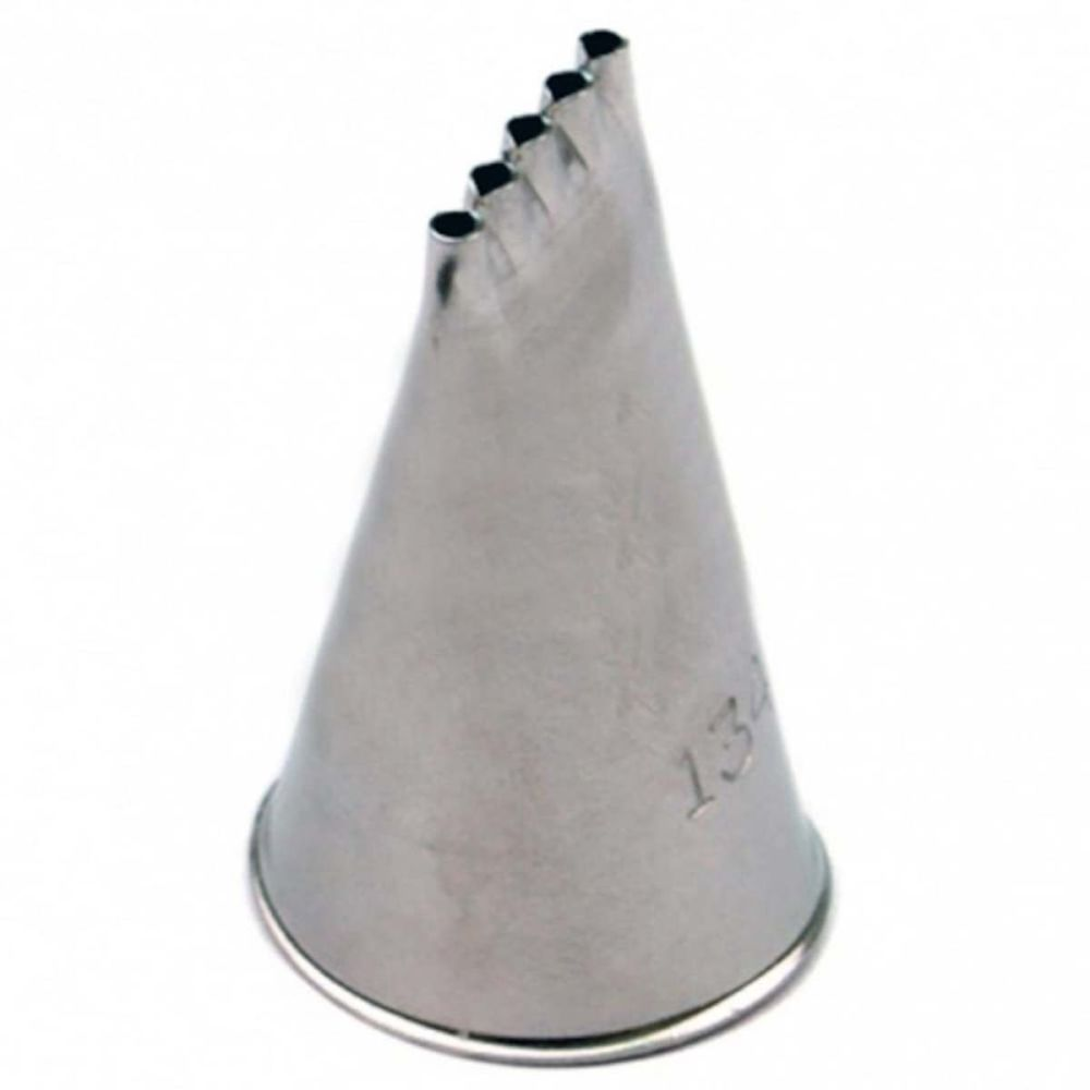 Ateco 134 large piping nozzle icing tube tip - 5 multi line