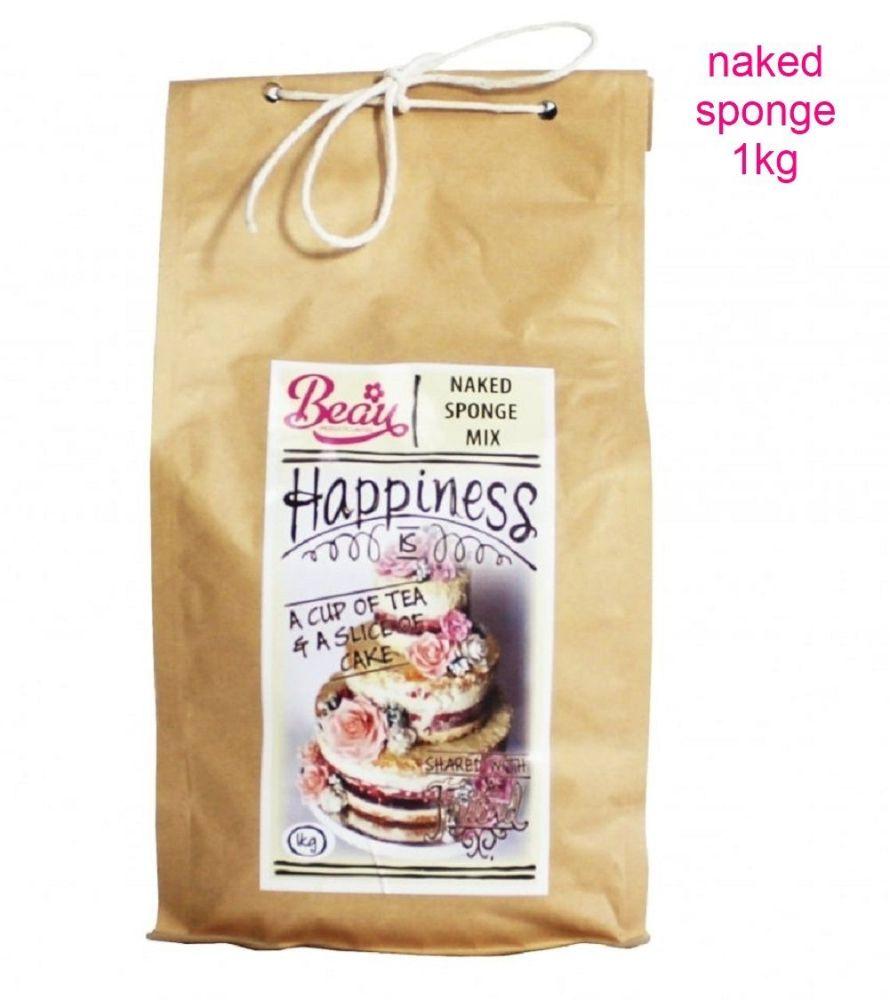 Beau Baking 1kg premium quality Naked Sponge cake mix