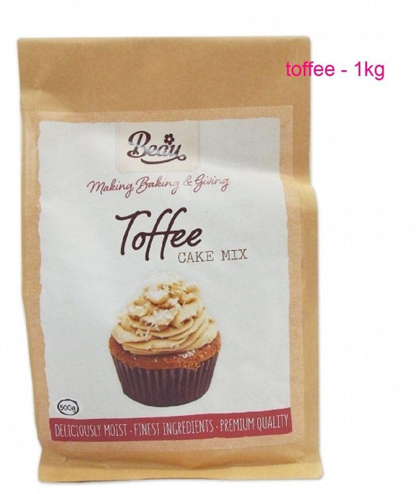 Beau Baking 1kg premium quality Toffee cake mix
