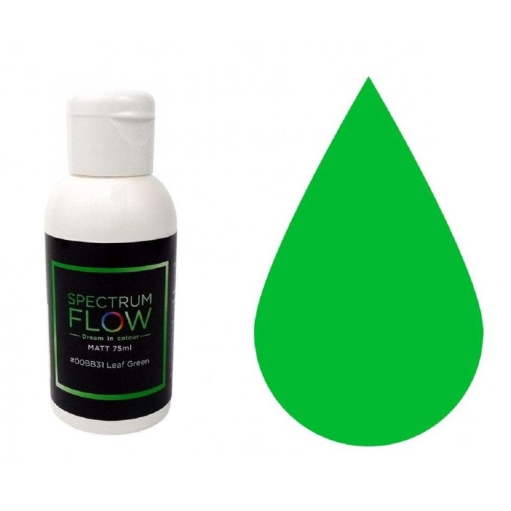 Spectrum Flow LEAF GREEN Pastel Matt 75ml concentrated airbrush icing paint