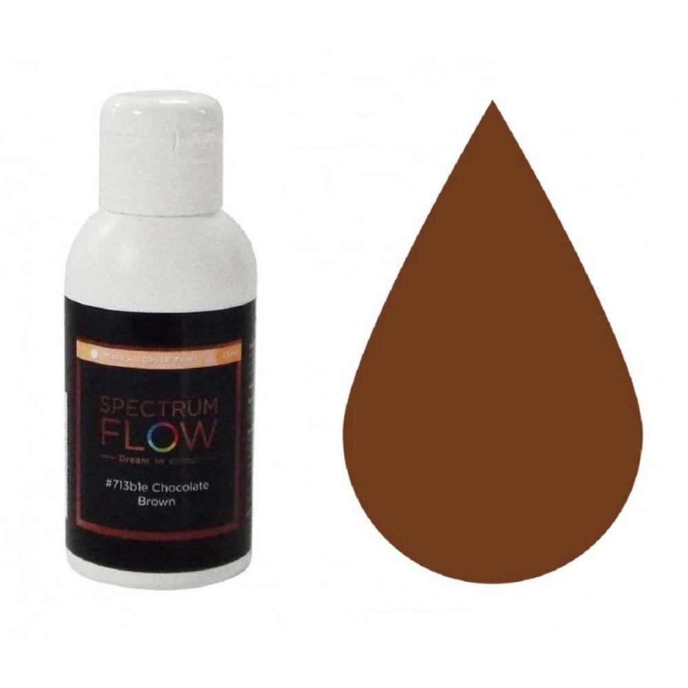 Spectrum Flow CHOCOLATE BROWN MATT 75ml concentrated airbrush icing paint c