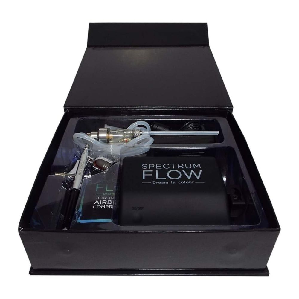 Spectrum Flow BLACK AIRBRUSH gun & compressor kit