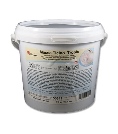 Massa Ticino 7kg WHITE TROPIC sugarpaste ready to roll fondant icing