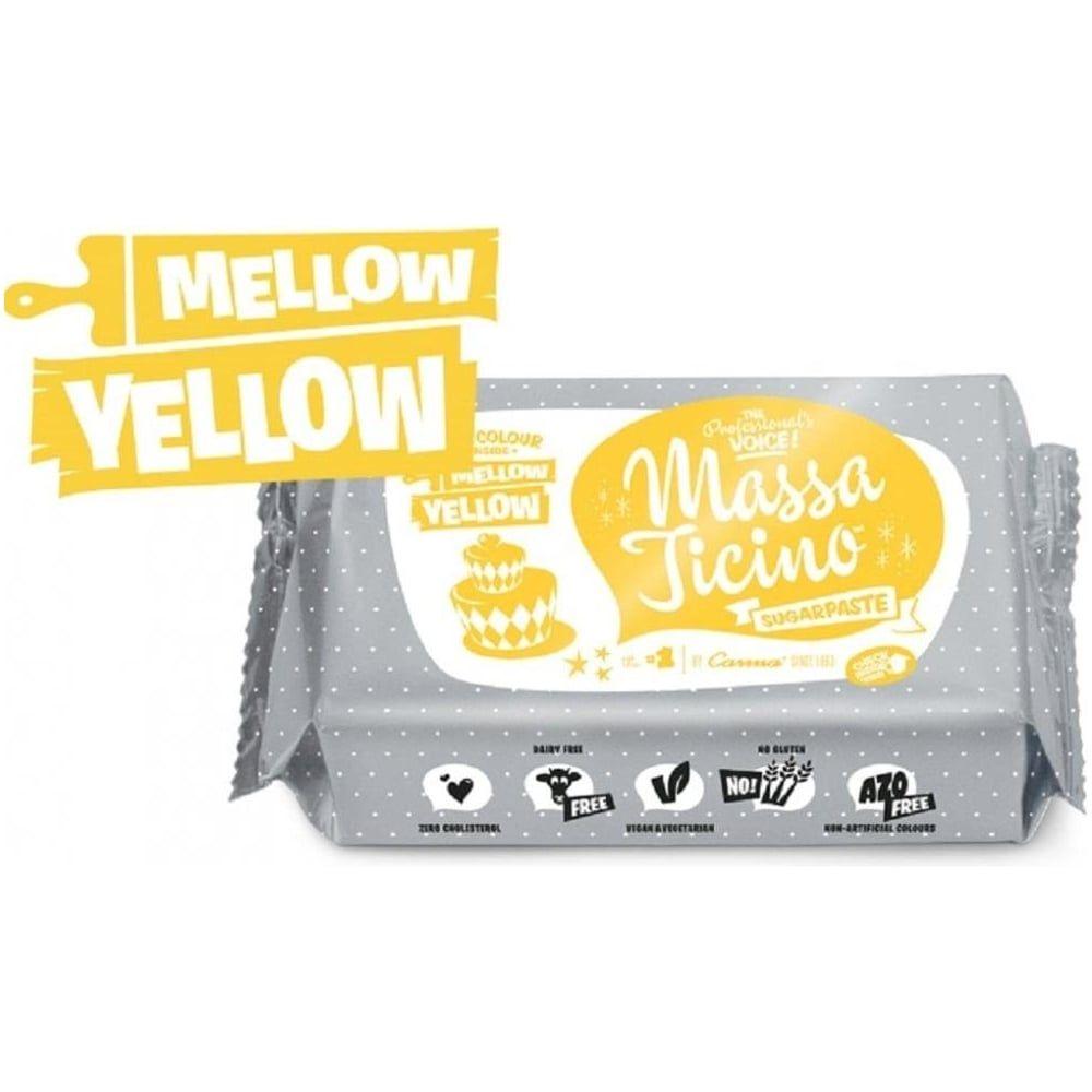 Massa Ticino 250g MELLOW YELLOW sugarpaste ready to roll fondant icing
