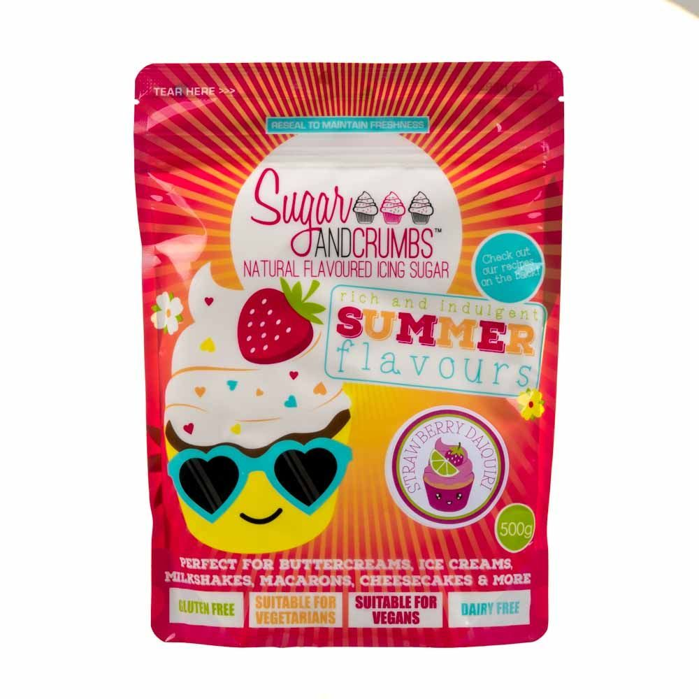 Sugar and Crumbs STRAWBERRY DAIQUIRI 500g natural flavoured icing sugar
