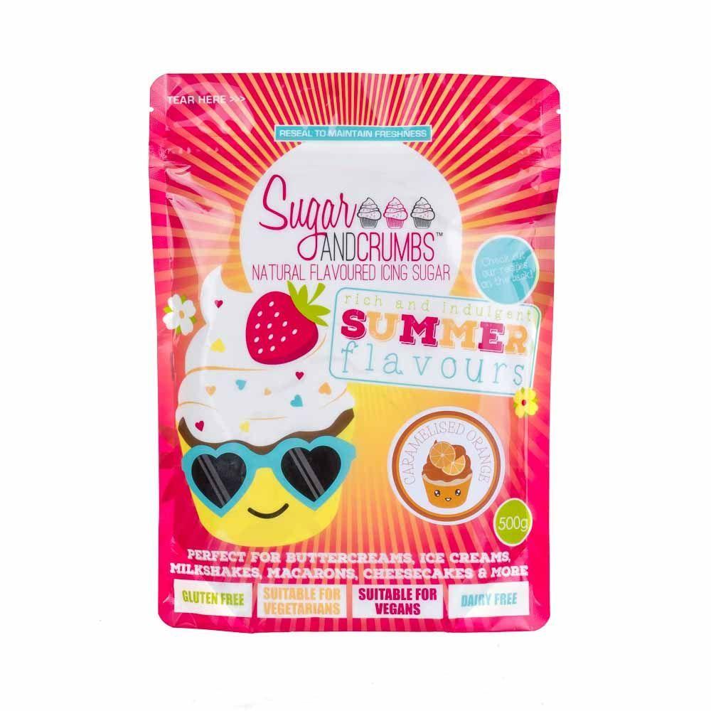 Sugar and Crumbs CARAMELISED ORANGE 500g natural flavoured icing sugar