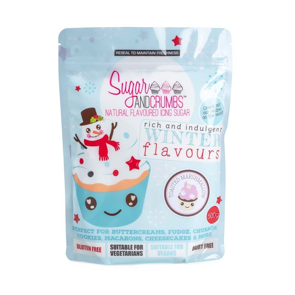Sugar and Crumbs TOASTED MARSHMALLOW 500g natural flavoured icing sugar