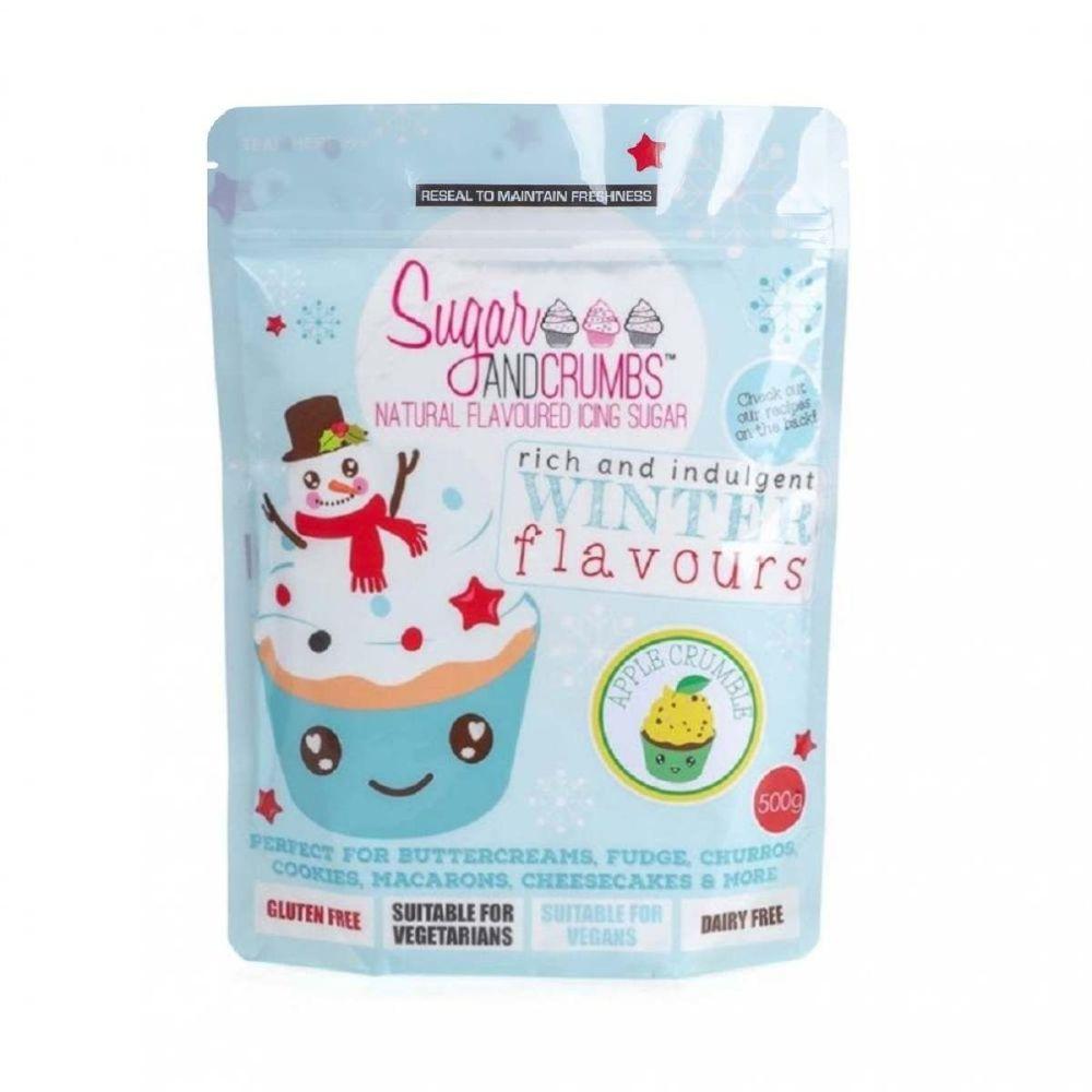 Sugar and Crumbs APPLE CRUMBLE 500g natural flavoured icing sugar