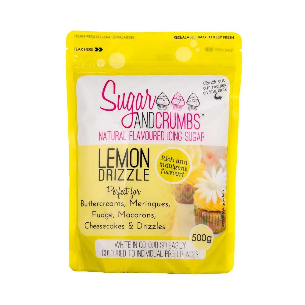 Sugar and Crumbs LEMON DRIZZLE 500g natural flavoured icing sugar